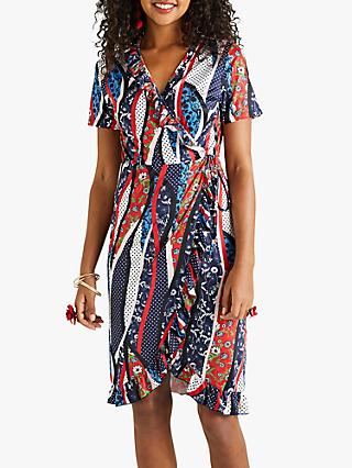 a5d1fb61c51 Yumi Polka Dot Wrap Dress