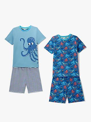 08c8546a15 John Lewis & Partners Boys' Octopus Shortie Pyjamas, Pack of 2, Blue