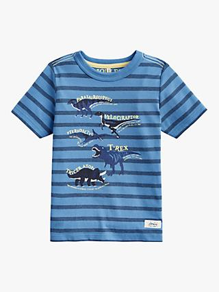 Little Joule Boys' Dino Facts Print T-Shirt, Blue
