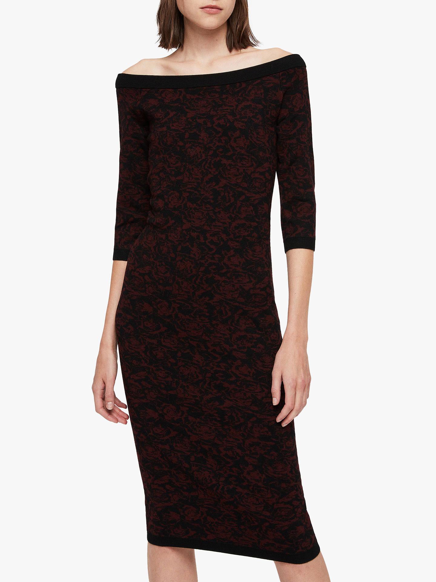 Ana Rose allsaints ana rose dress, black at john lewis & partners