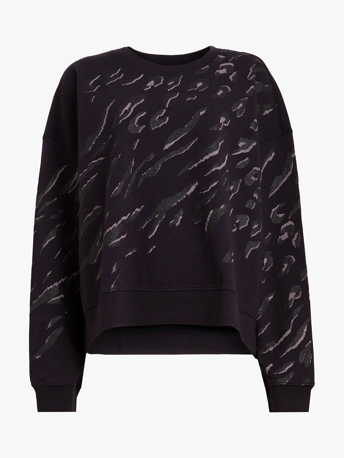 Buy AllSaints Aslan Lo Sweatshirt, Petrol Black, L Online at johnlewis.com