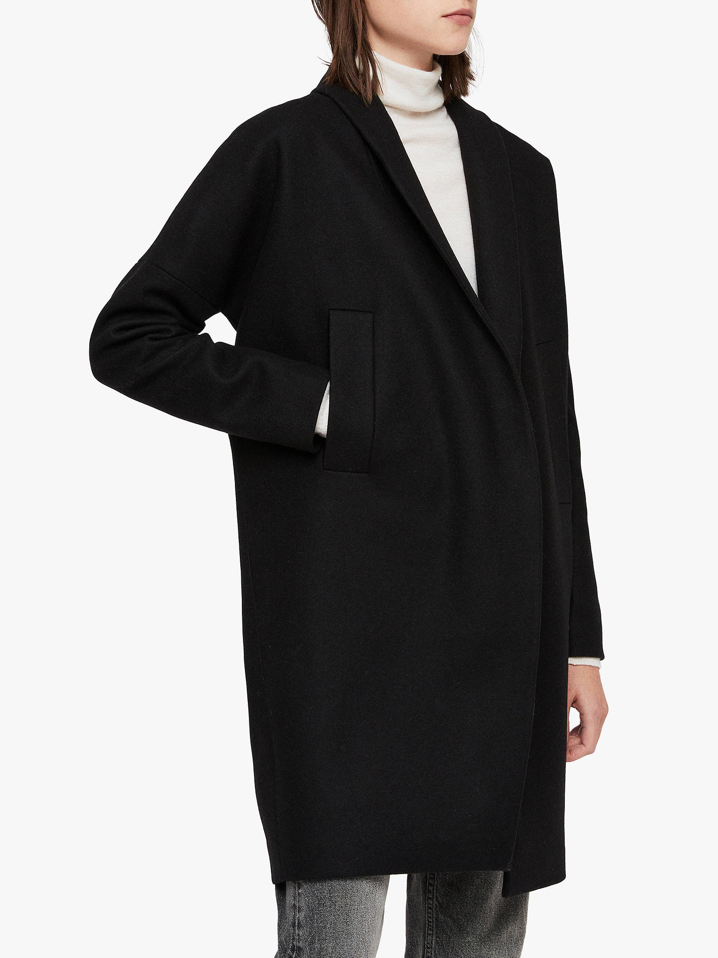 All Saints Layton Coat, Black by All Saints