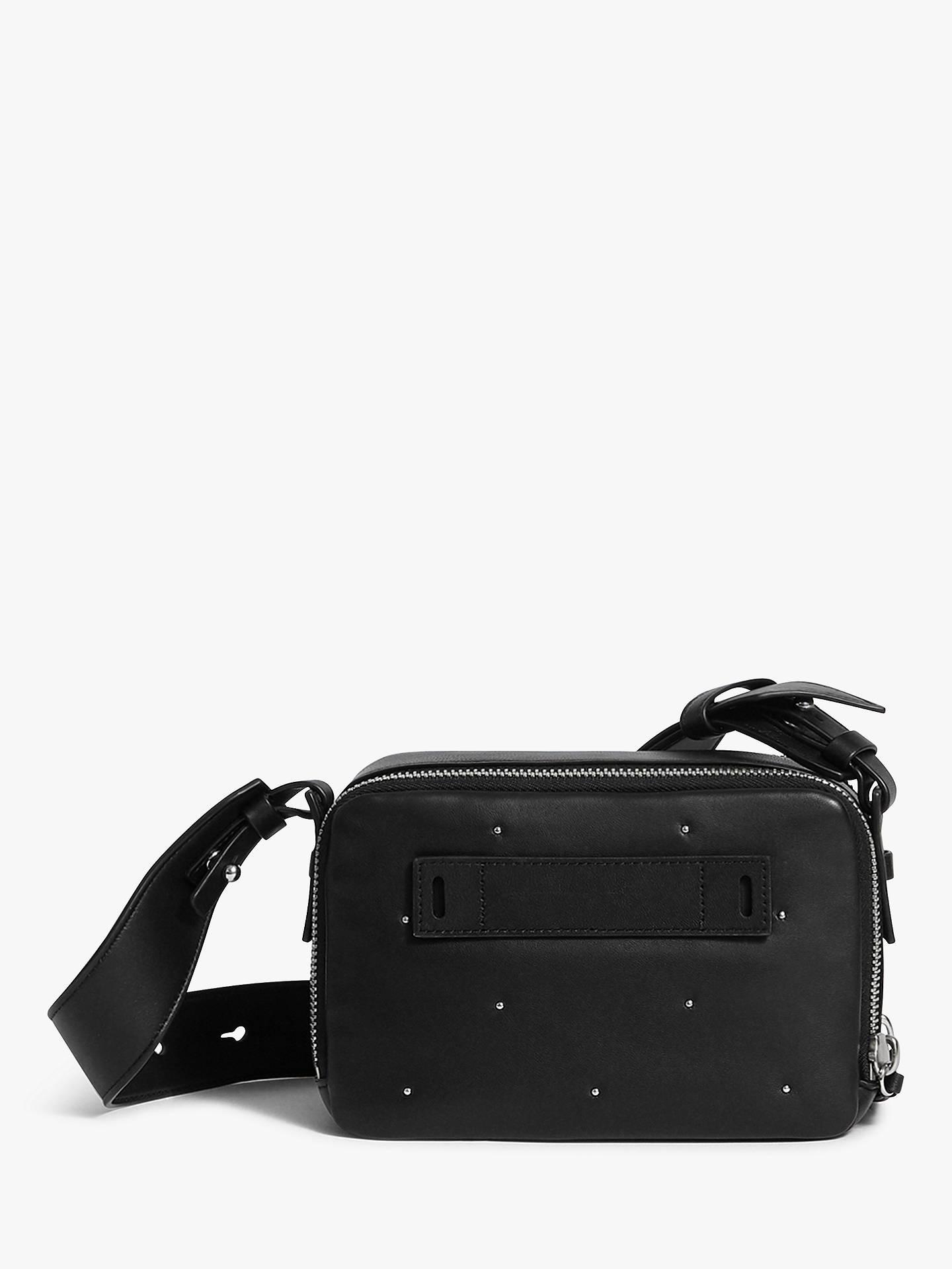 831673cd14b BuyAllSaints Kathi Leather Cross Body Bum Bag, Black Online at  johnlewis.com ...