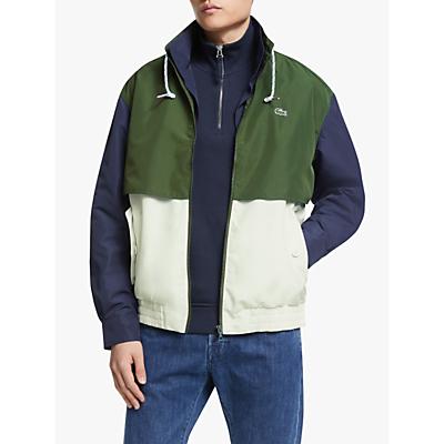 Lacoste Colour Block Jacket, White/Green/Navy