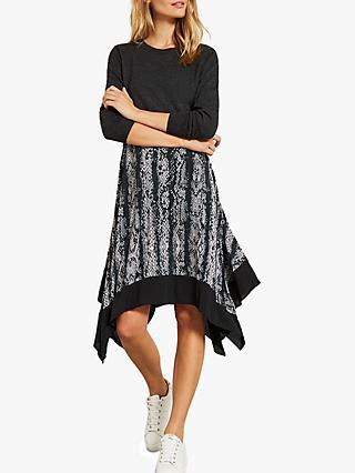 56b0b7208db8 Mint Velvet Lucy Snake Print Layered Dress