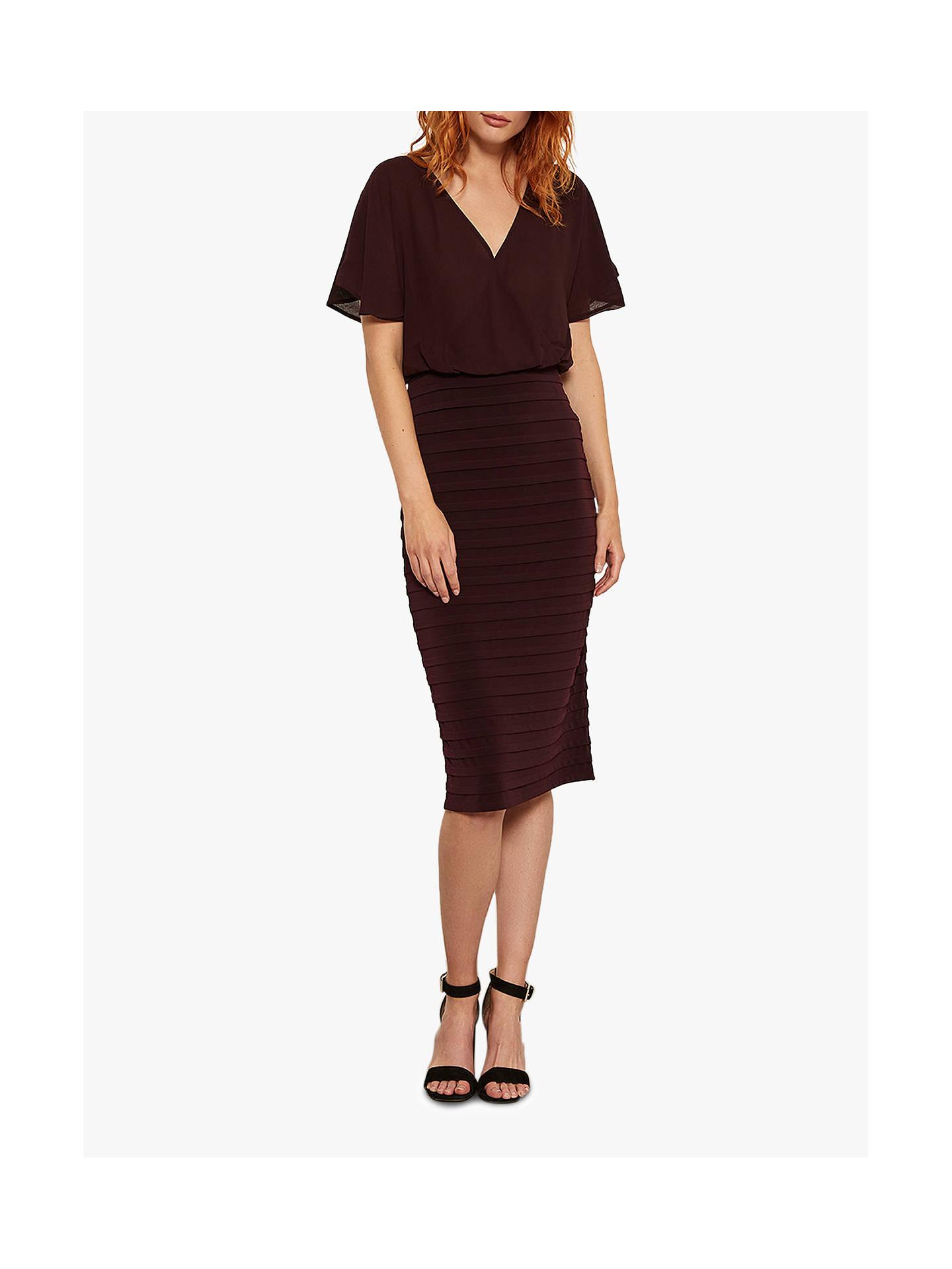3986ec85137395 Buy Mint Velvet Chiffon Bordeaux Bandage Dress