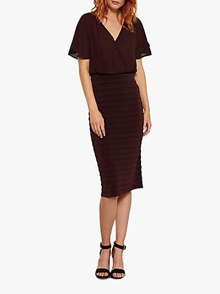 54f4e63fe2 Mint Velvet Chiffon Bordeaux Bandage Dress