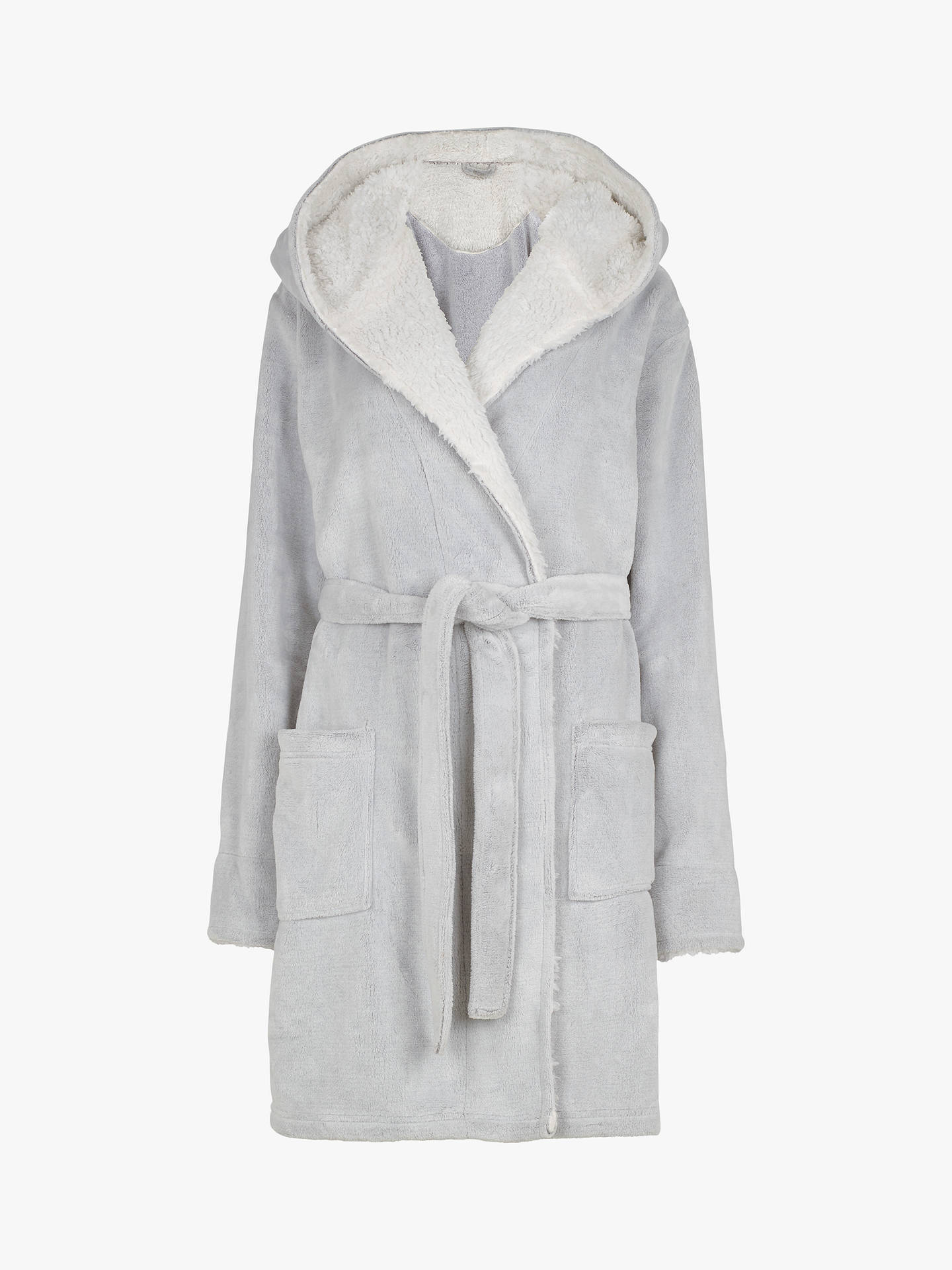 Fat Face Penny Dressing Gown Grey At John Lewis Partners