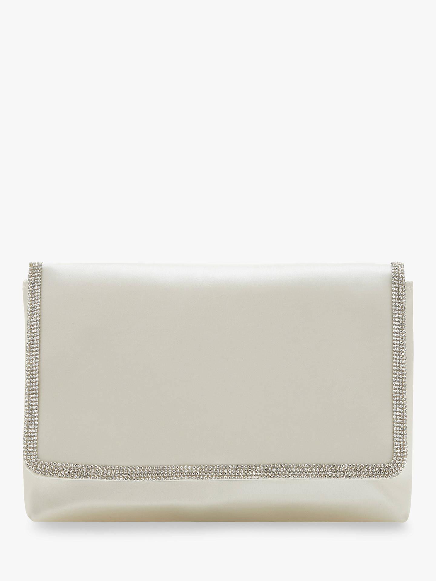 050af314db Dune Bagikal Satin Embellished Clutch Bag, Ivory
