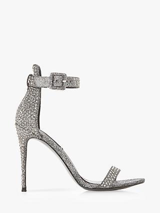 dd2b76b895be Steve Madden Mischa Embellished Ankle Strap Heeled Sandals