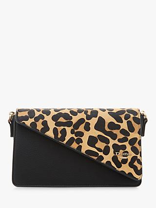 Dune Erina Leather Clutch Bag, Leopard-Pony