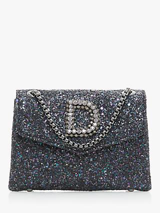 Dune Ejessie Glitter Embellished Evening Bag Petrol Blue