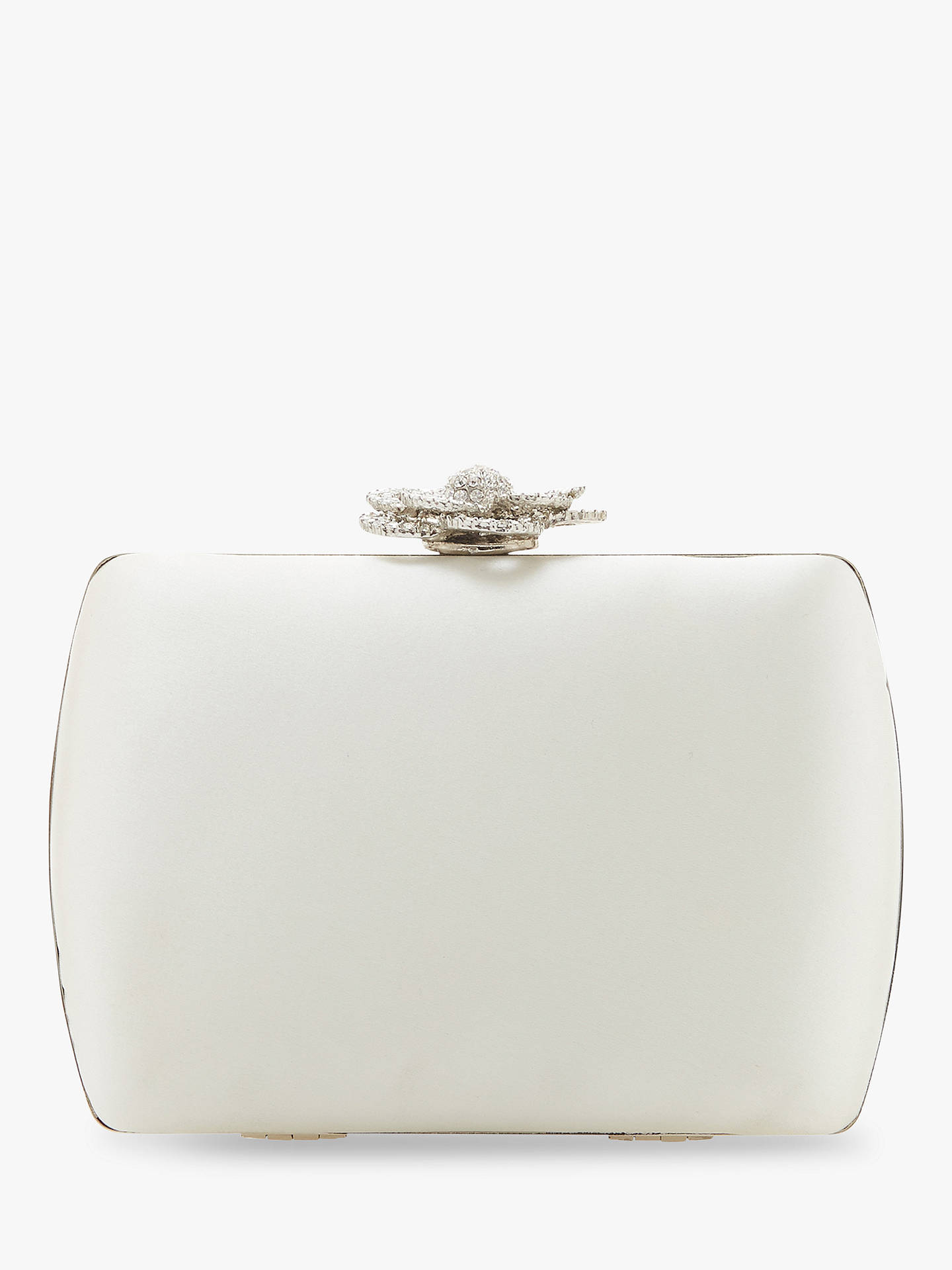 coupon code 50% off online for sale Dune Boted Satin Clutch Bag, Ivory