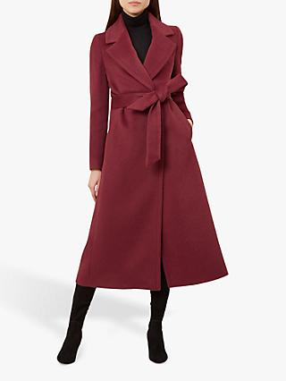 Hobbs Esther Coat, Burgundy