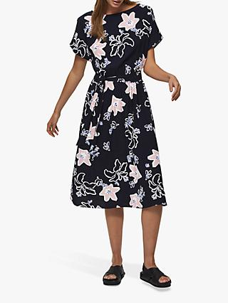 Selected Femme Rinna Vienna Floral Print Midi Dress, Night Sky