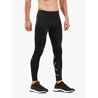 2XU Run Compression Training Tights, Black/Silver Reflective
