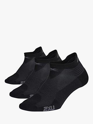 2XU 3 Pack Ankle Socks, Black