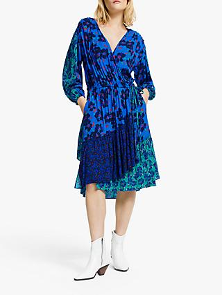 821aff3e20dd AND OR Nadia Floral Patchwork Wrap Dress