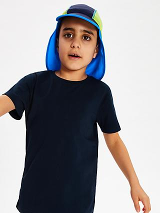 John Lewis & Partners Children's Colour Block Keppi Hat, Blue
