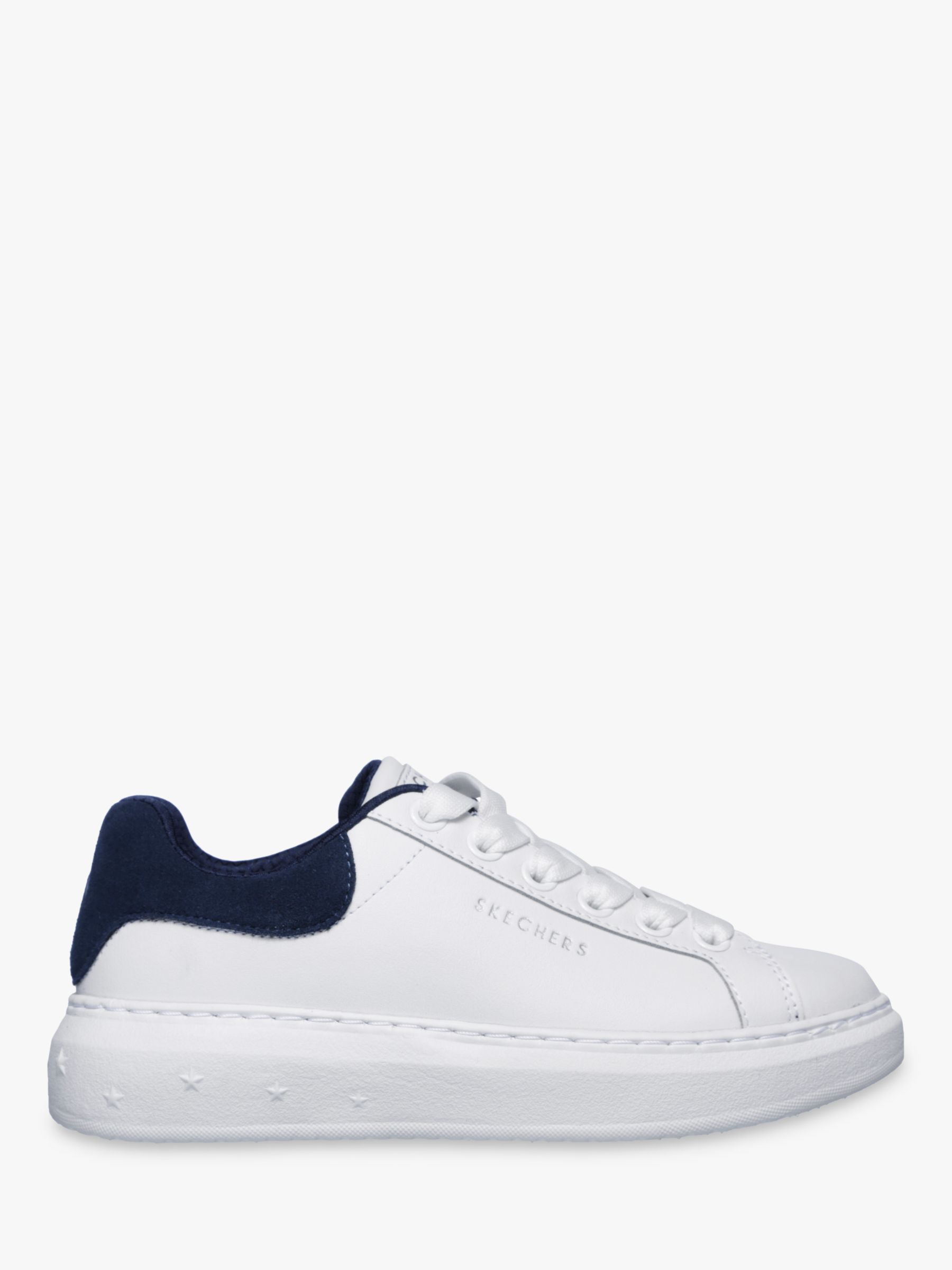 e88c5a0163c Skechers High Street Lace Up Trainers, White/Navy Leather