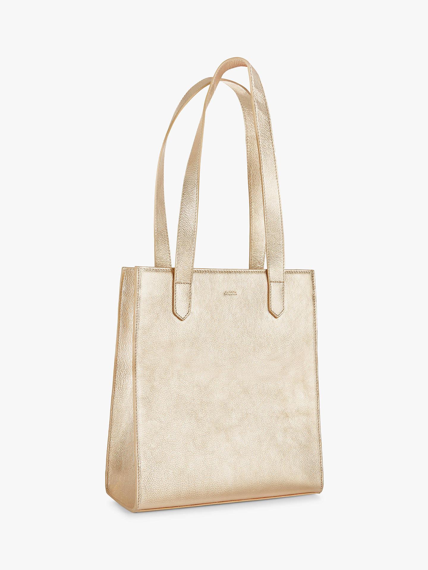 ee0d137dbc Jaeger Metallic Jennifer Leather Tote Bag, Gold
