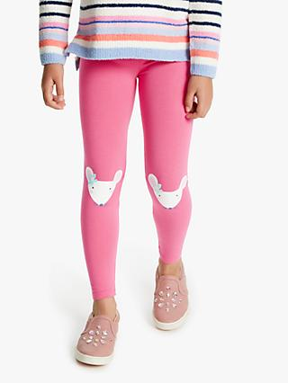 Joules Girls' Mouse Leggings, Pink