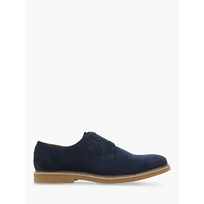Dune Balerno Suede Derby Shoes, Navy