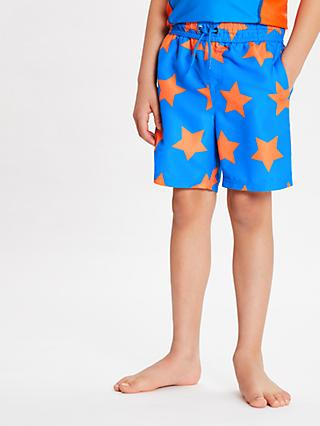 John Lewis & Partners Boys' Star Print Board Shorts, Blue