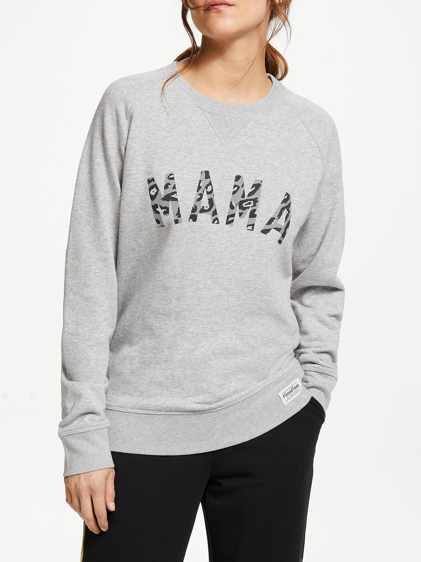 7f8f0906f6c4 Buy Selfish Mother Mama Leopard Crew Neck Sweatshirt, Grey, S Online at  johnlewis.