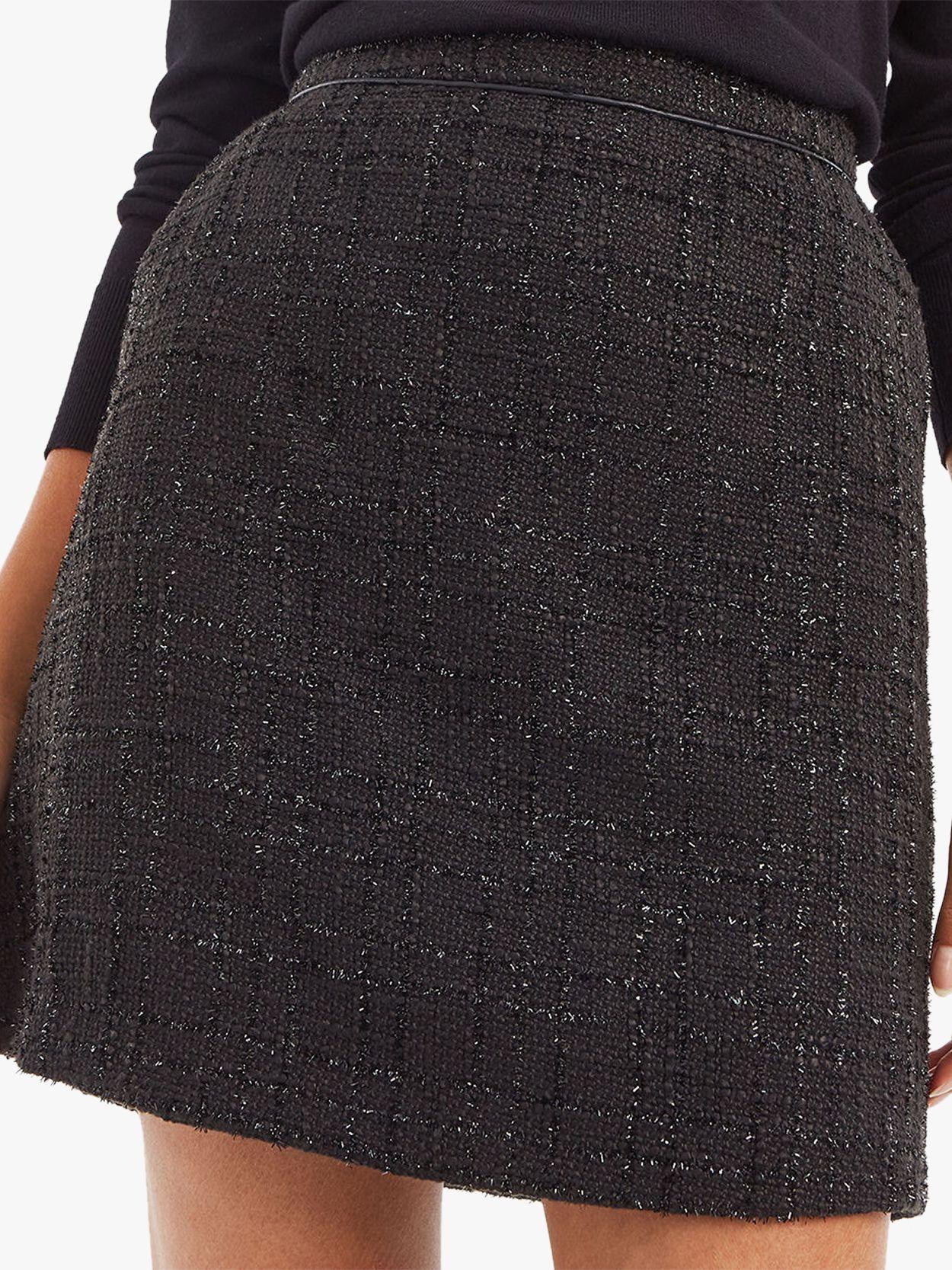 OASIS BLACK SPARKLE TWEED SKIRT 6 to 18 ****Festive Season Favourite