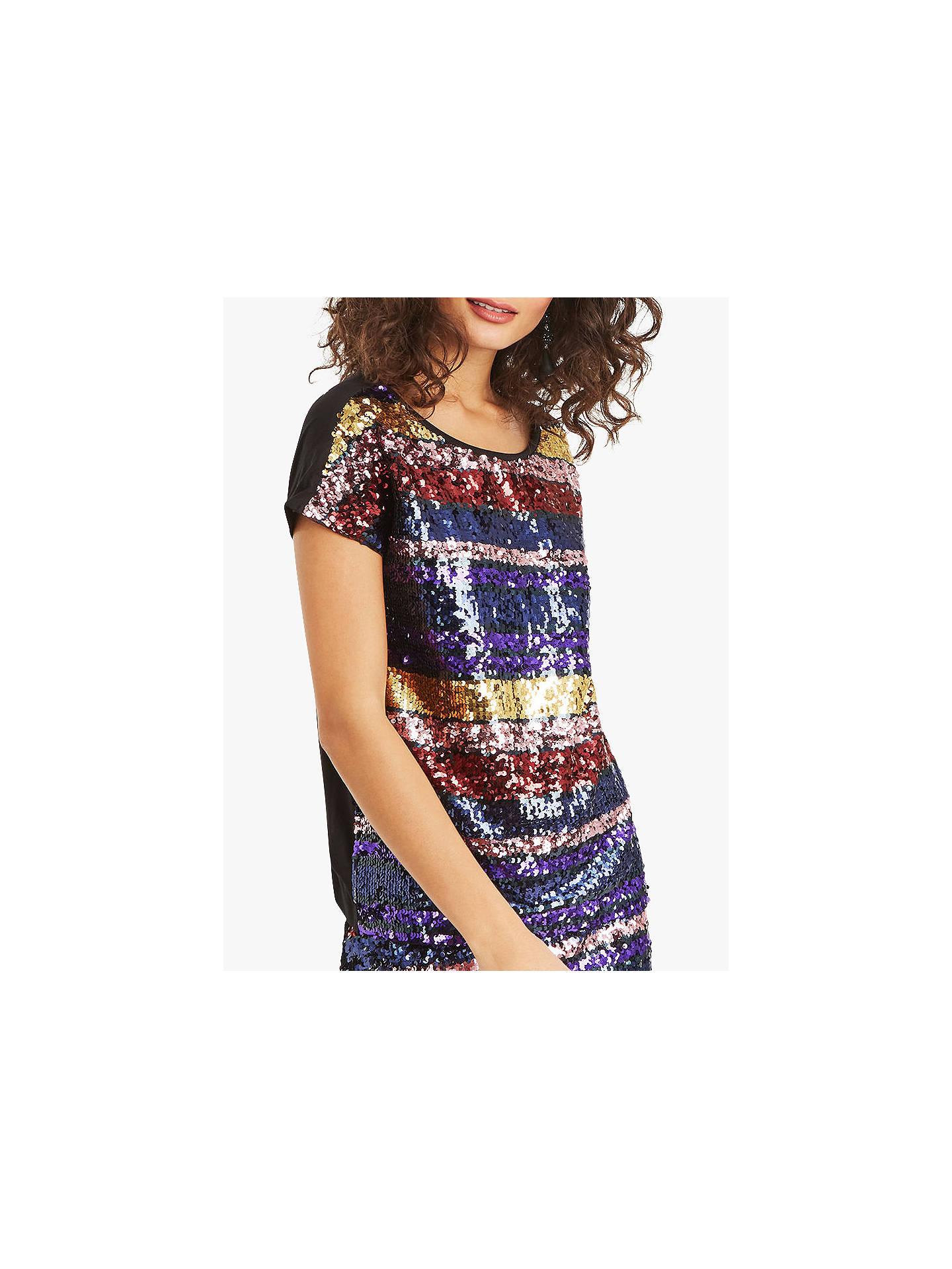 29c39c187162 Buy Oasis Rainbow Sequin T-Shirt, Multi, S Online at johnlewis.com ...
