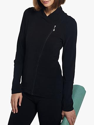 M Life Asymmetric Wrap Yoga Jacket, Black