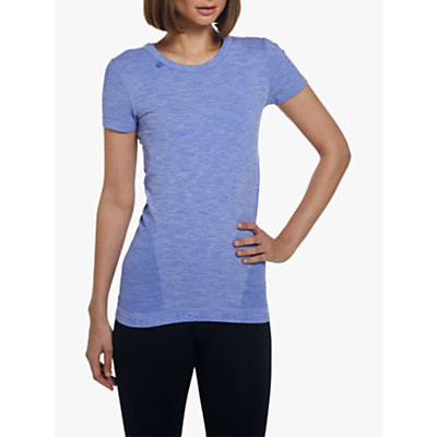 Image of M Life Seamless Yoga T-Shirt, Blue