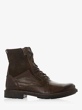 Bertie Club Leather Boot, Dark Brown