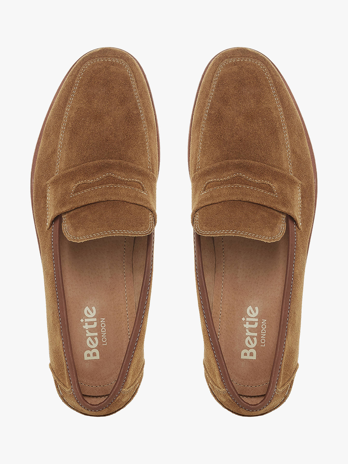 e3abf0e099a Bertie Soho Suede Penny Loafer at John Lewis   Partners