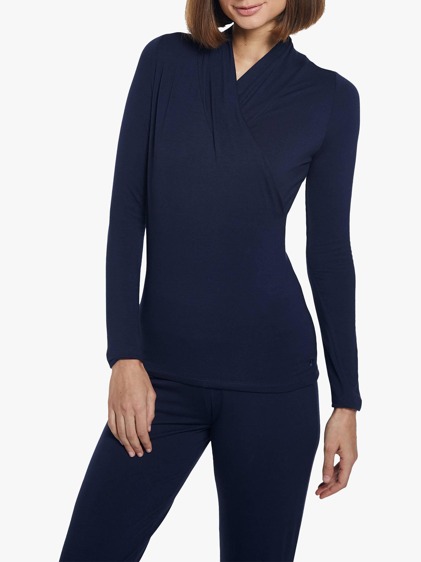 22496950b7 Buy M Life Awakening Long Sleeve Crossover Yoga Top, Navy, XS Online at  johnlewis ...