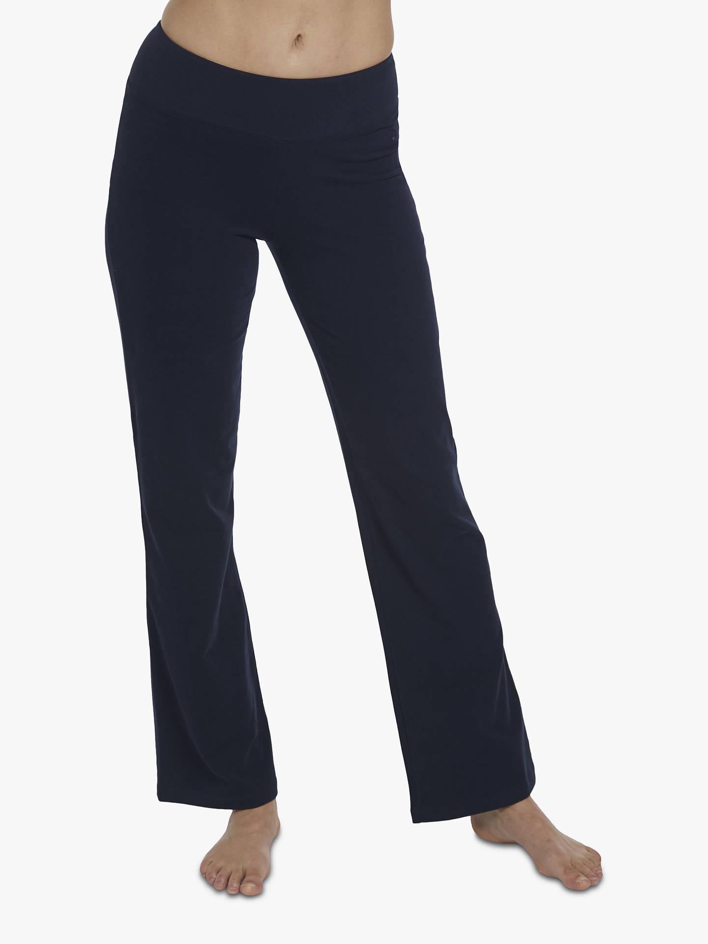 74ec5f99961 M Life Lotus Classic Bootleg Fit Yoga Pants, Dark Blue at John Lewis ...