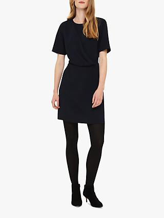 Phase Eight Khloe Drape Dress, Navy