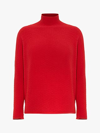 Phase Eight Madi Textured Funnel Neck Jumper, Red