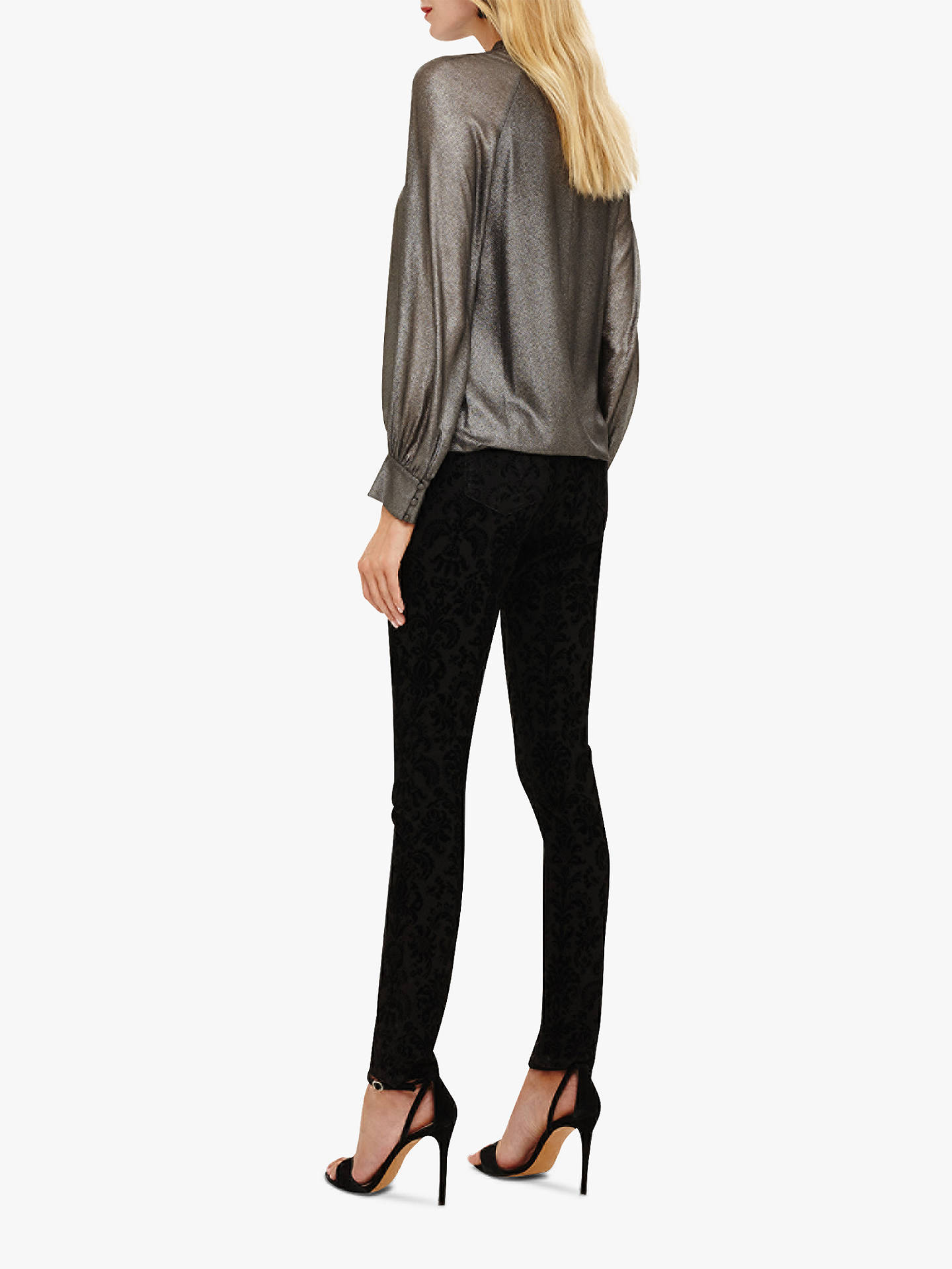 c4ffb8c7b2 ... Buy Phase Eight Flocked Floral Skinny Jeans, Black, 12 Online at  johnlewis.com ...