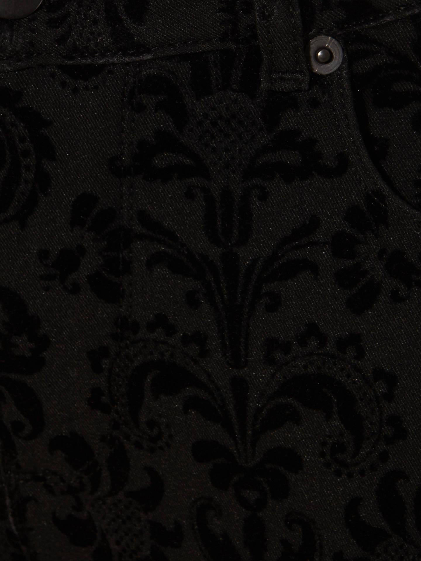 143ac350ba ... Buy Phase Eight Flocked Floral Skinny Jeans, Black, 12 Online at  johnlewis.com