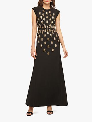 Phase Eight Collection 8 Kiera Embellished Maxi Dress Black Gold