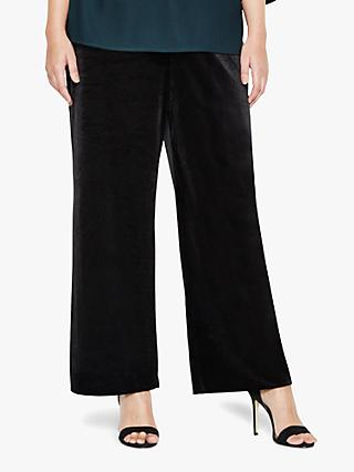 Studio 8 Jaz Wide Leg Velvet Trousers, Black