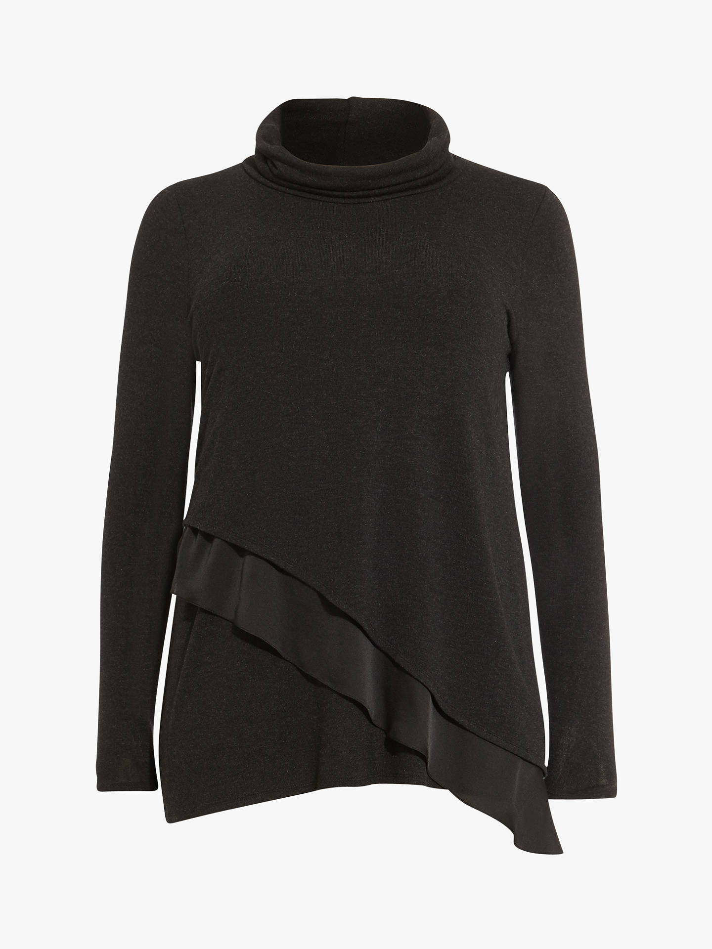 BuyStudio 8 Caitie Roll Neck Top, Charcoal, 18 Online at johnlewis.com