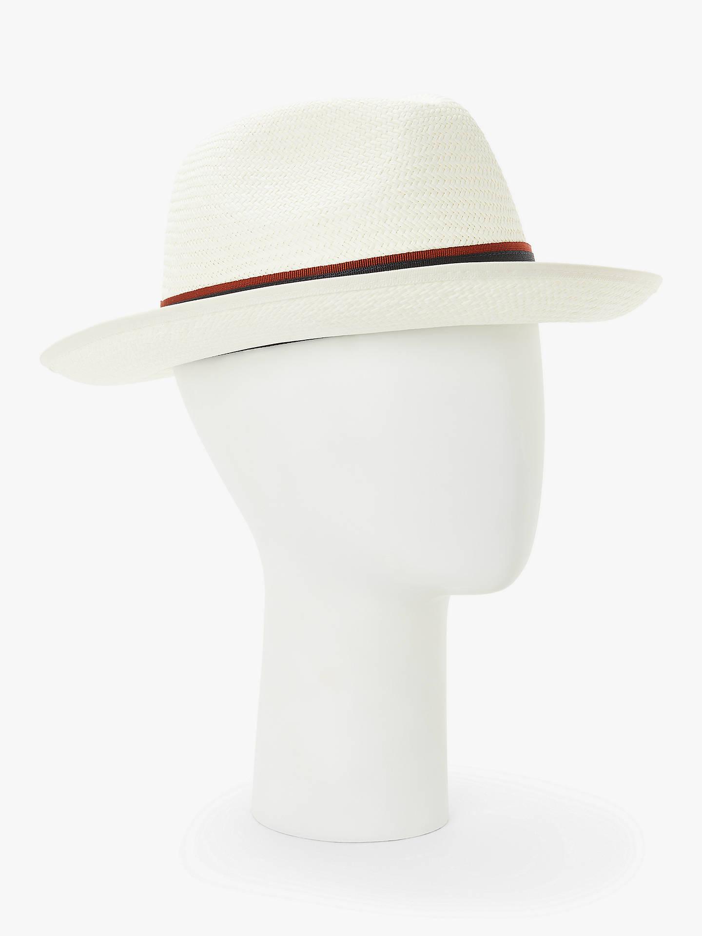2144c665d33b9 Buy John Lewis & Partners Christys' Wide Brim Panama Hat, White, S Online  ...