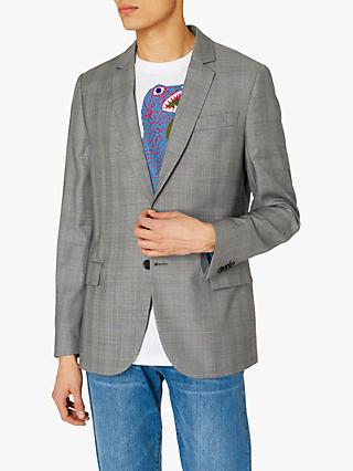Paul Smith Prince of Wales Check Blazer, Navy