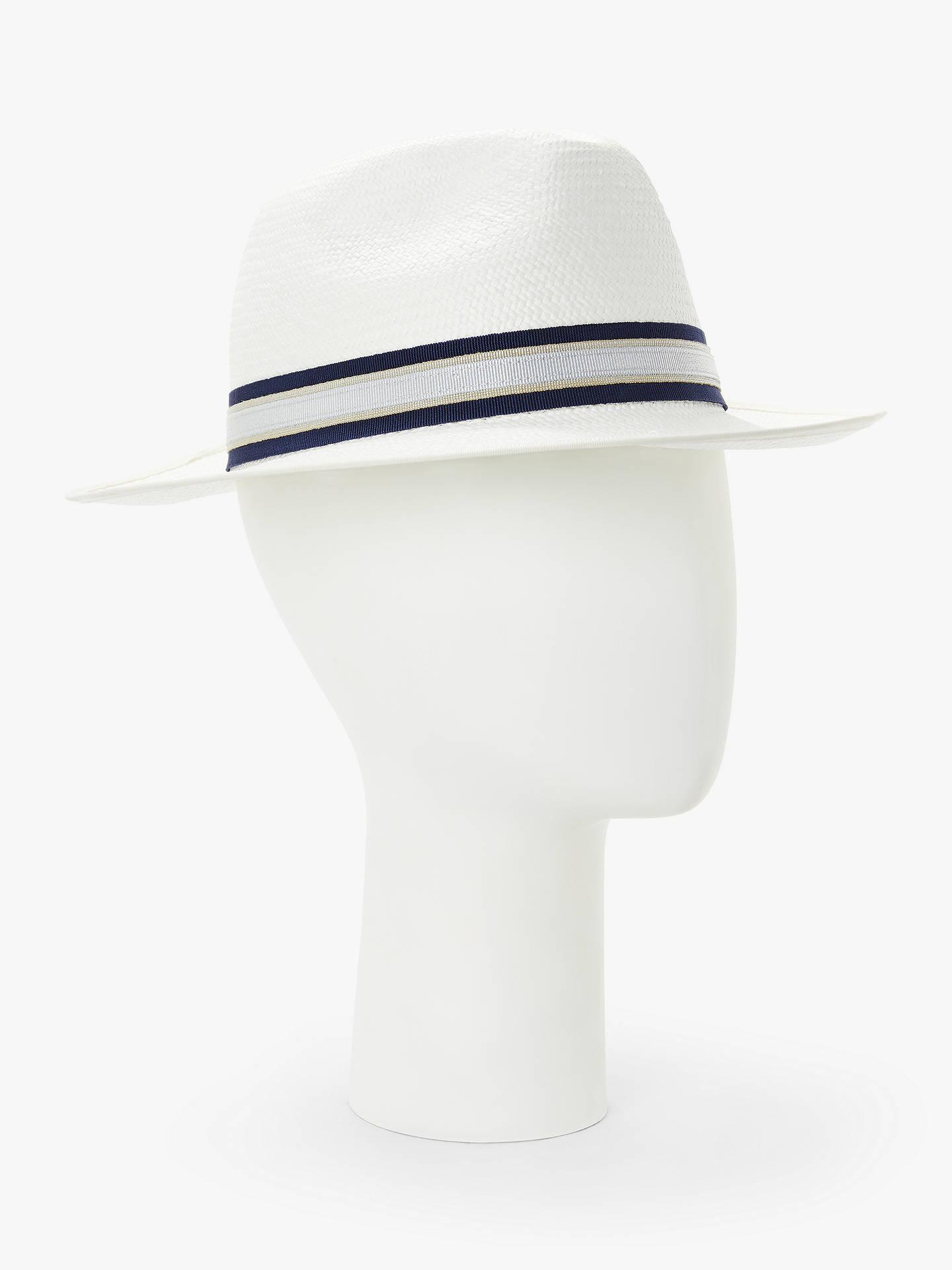 72007204d John Lewis & Partners Christys' Panama Hat, White