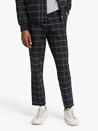 Paul Smith Check Chinos, Black