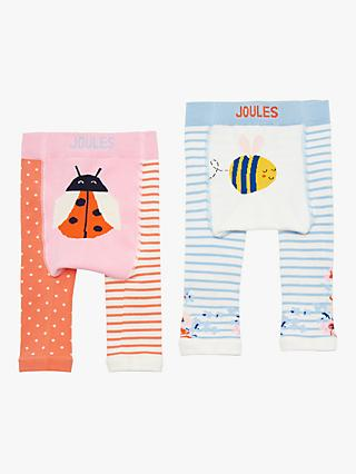 Little Joules Baby Ladybird and Bumble Bee Leggings, Pack of 2, Pink/Multi