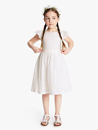 John Lewis & Partners Heirloom Collection Girls' Broderie Dress, White